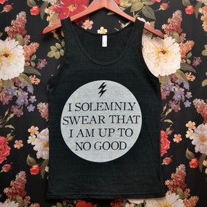 Image of Tri-Blend 'I Solemnly Swear That I Am Up To No Good' Tank Top