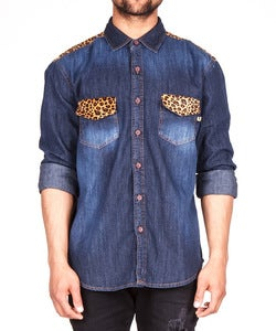 Image of THE DARK CHEETAH DENIM SHIRT
