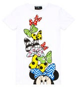 Image of GERLAN JEANS X MINNIE MOUSE &quot;Tower of Bows&quot; Tall Tshirt