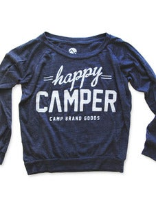 Image of HAPPY CAMPER SLOUCHY PULLOVER | ECO NAVY