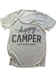Image of HAPPY CAMPER LOOSE T | OAT HEATHER