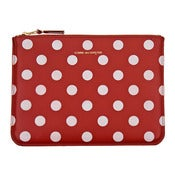 Image of Comme des Garcons | Polka Dots Printed Wallet - Red