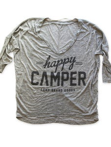 Image of HAPPY CAMPER DOLMAN LONGSLEEVE | OAT HEATHER