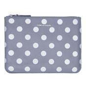 Image of Comme des Garcons | Polka Dots Printed Wallet - Grey