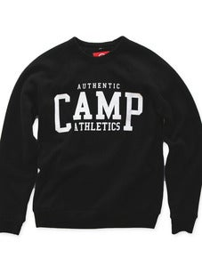 Image of CAMP ATHLETICS CREWNECK SWEATSHIRT | TRI-BLACK