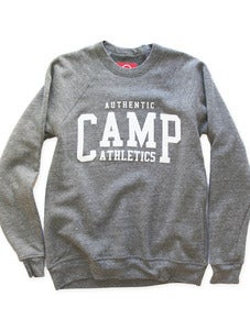 Image of CAMP ATHLETICS CREWNECK SWEATSHIRT | TRI-GREY