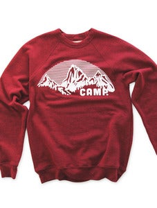 Image of ROCKY MOUNTAIN CREWNECK SWEATSHIRT | TRI-RED