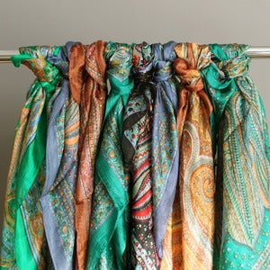 Image of Vintage Silk Paisley Scarves