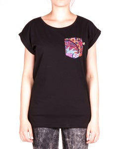 Image of THE WOMEN BLACK JUNGLE POCKET TEE
