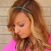 Image of the bling bands- amethyst rhinestone headband