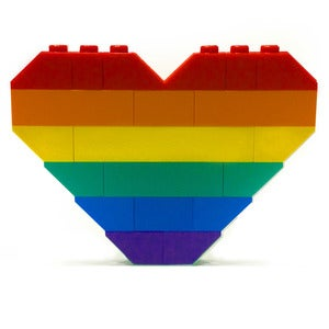 Image of ♥ Rainbow Pride Heart