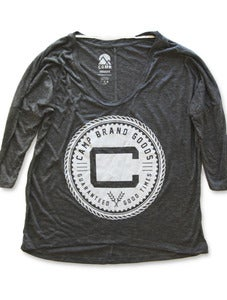 Image of OLDS CREST DOLMAN LONGSLEEVE | ASH HEATHER