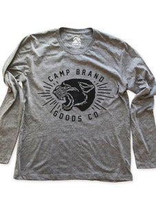 Image of CAMP WILDCATS LONGSLEEVE T | ATHLETIC GREY