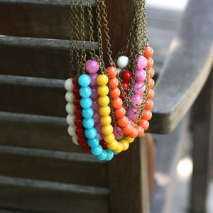 Image of NEW Antiqued Bubble Necklace - 6 Colors