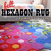 Image of Felt Hexagon Rug PDF Pattern &amp; Instructions