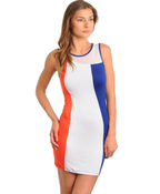 Image of Color Block Body Con Dress