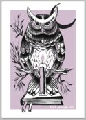 Image of Mo Coppoletta's Owl limited edition screen print