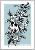 Image of Mo Coppoletta's Dagger and Skull limited edition screen print.
