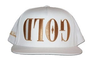 Image of GOLD White Snapback