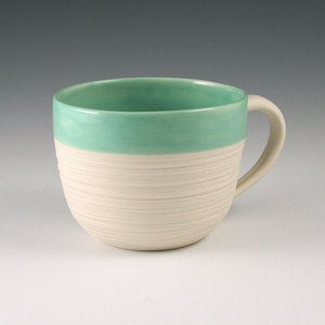 Image of Groove Mug in Mint Green