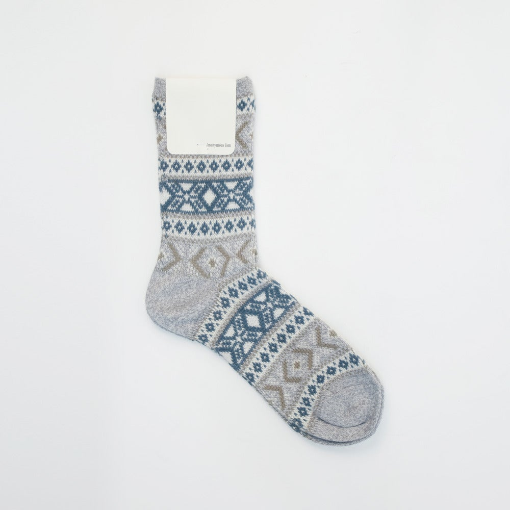 Image of Anonymous Ism Jacquard Socks - GREY