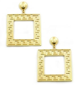 Image of Square Greek Earring