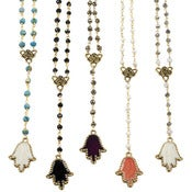 Image of Hamsa Rosary Necklace