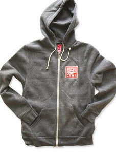 Image of ROCKY MOUNTAIN ZIP HOODED SWEATSHIRT | ECO GREY