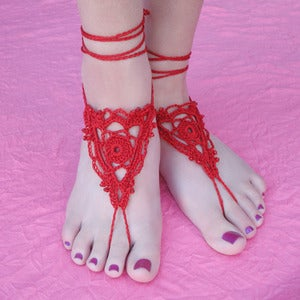 Image of CUSTOM Goddess Barefoot Sandals