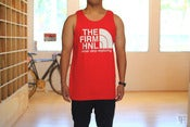 "Mens ""Firm Face"" tank (red)"