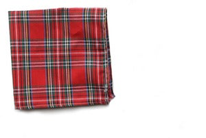 Image of Red Plaid Pocket Square