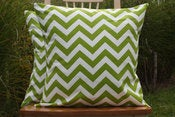 Image of Chartruese Decorative Pillows Chevron For the Nursery