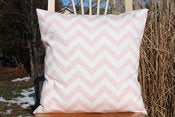 Image of Soft Pink Decorative Pillows Chevron For the Nursery