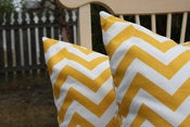 Image of Corn Yellow Decorative Pillows Chevron For the Nursery