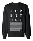 Image of ADVENTURE Black Crew Neck Sweater