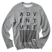 Image of ADVENTURE Grey Crew Neck Sweater