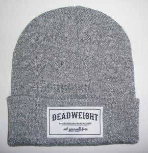 Image of Heather Grey Patch Beanie