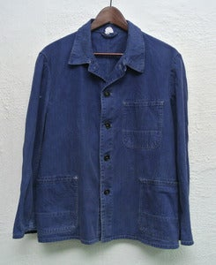 Image of Vintage french workers jacket (M) #3