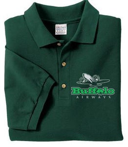 Image of Formal Buffalo Golf Shirt - Green