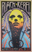 Image of Black Rebel Motor Cycle Club - BRMC - Austin Psych Fest - Silkscreen Poster 2013