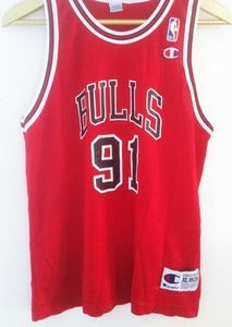 Image of Vintage Champion Rodman Jersey - Red