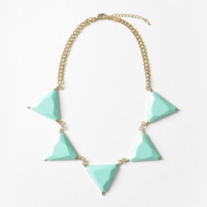 Image of Turquoise Triangle Bib Necklace
