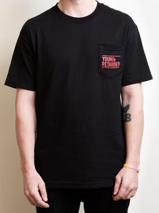 Image of Young & Retarded Pocket Tee (Black)