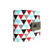 Image of GeoTriangle Pattern) Bifold Wallet With Snap (Plus Zipper)