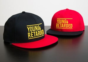 Image of Young & Retarded Snapback Hat (Red)