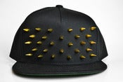 Image of Gold Clouté Snapback