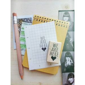 Image of *new* We Are Here rubber stamp