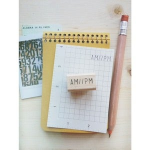 Image of *new AM//PM rubber stamp
