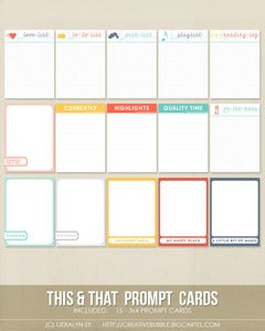 Image of *NEW* This & That Prompt Cards (Digital)