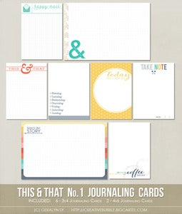 Image of *NEW* This & That No.1 Journaling Cards (Digital)